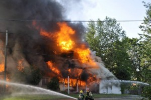 Davidson Family home on fire